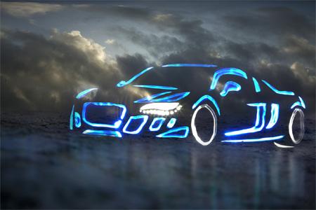 Cool Light Graffiti Cars
