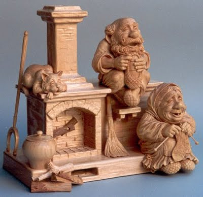 Something Amazing Cool Wooden Sculpture