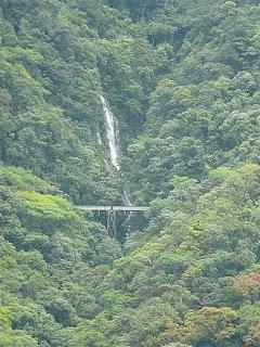 waterfall and the big famous bridge - Morretes, Brazil