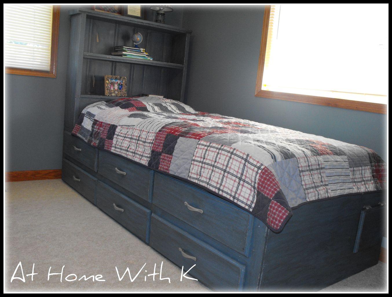 Remodelaholic | Blue Kids Bed; Guest