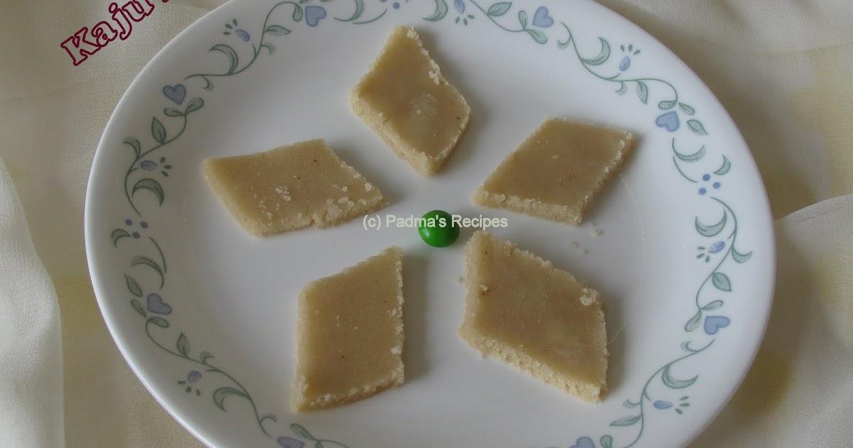 Kaju Katli Recipe Hebbar S Kitchen