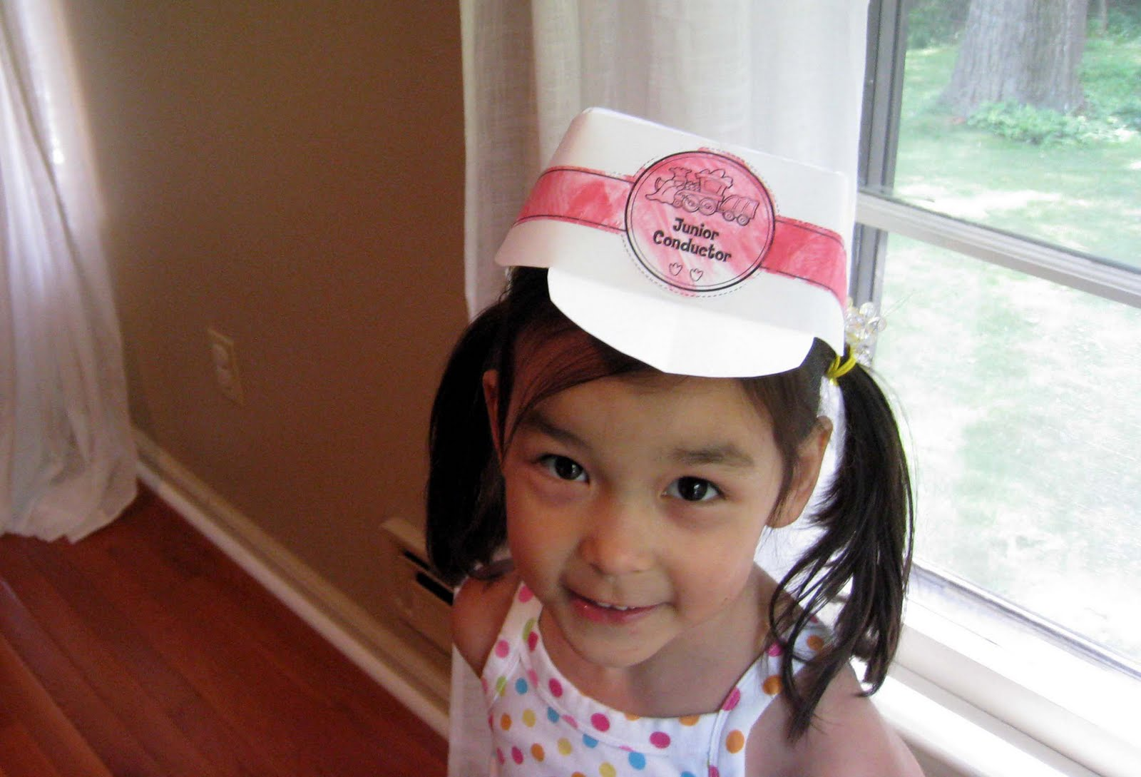 c69edf32fd3 Quicky Conductor s Hat. My daughters love PBS s Dinosaur Train.