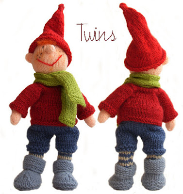knitted doll, knitted gnome