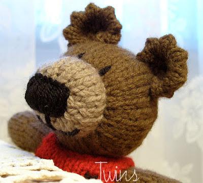 Twins Knitting Pattern Minishop Faye Knitted Bear Knitting