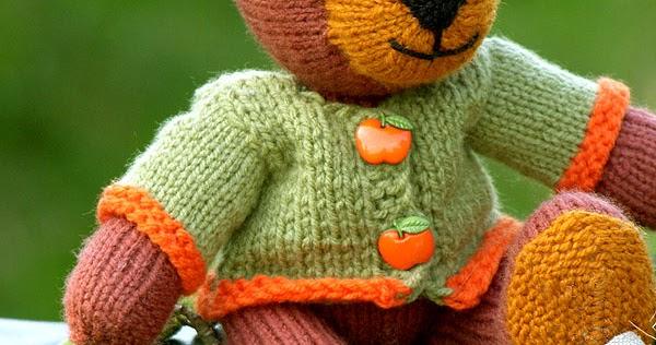 Twins' Knitting Pattern MiniShop: Tom the knitted Bear ...