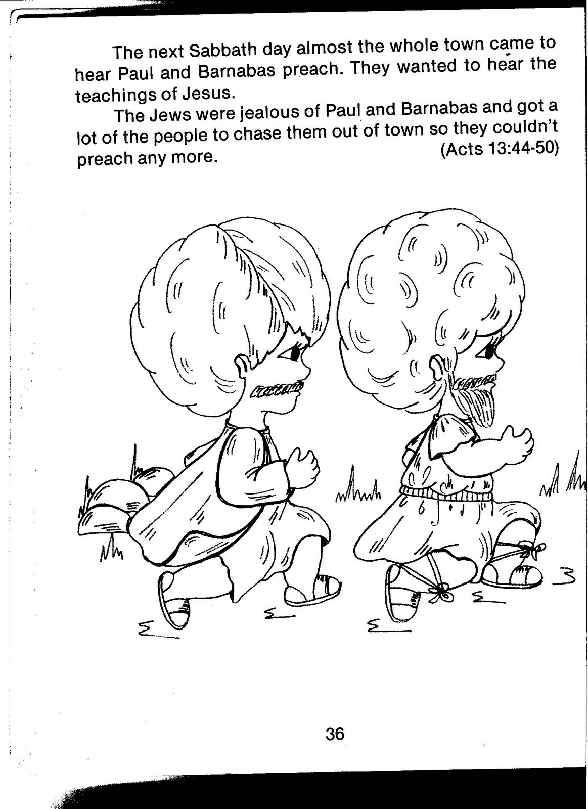 Free coloring pages of paul missionary journey