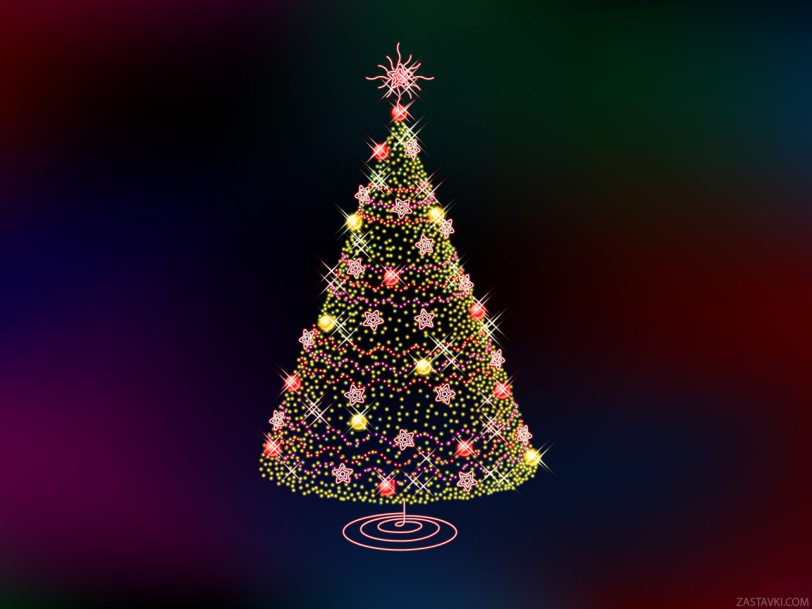 FULL WALLPAPER: Christmas New Year Tree Wallpapers