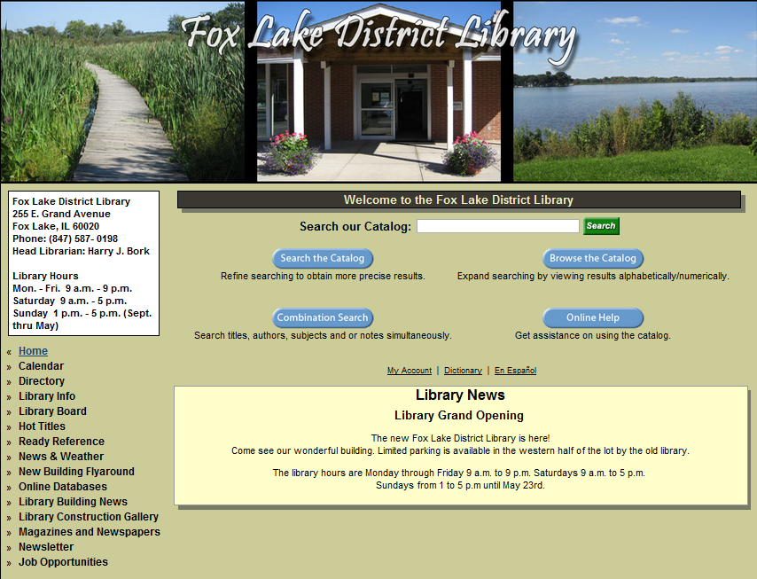 fox lake public library hours - 854×653