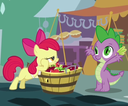 equestria daily mlp stuff story spike and apple bloom