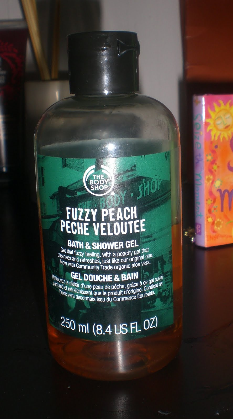 Cotton Candy Fro: The Body Shop Fuzzy Peach Bath and Shower Gel
