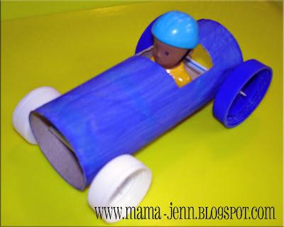 Toilet Roll Car Toy Craft   Preschool Education for Kids