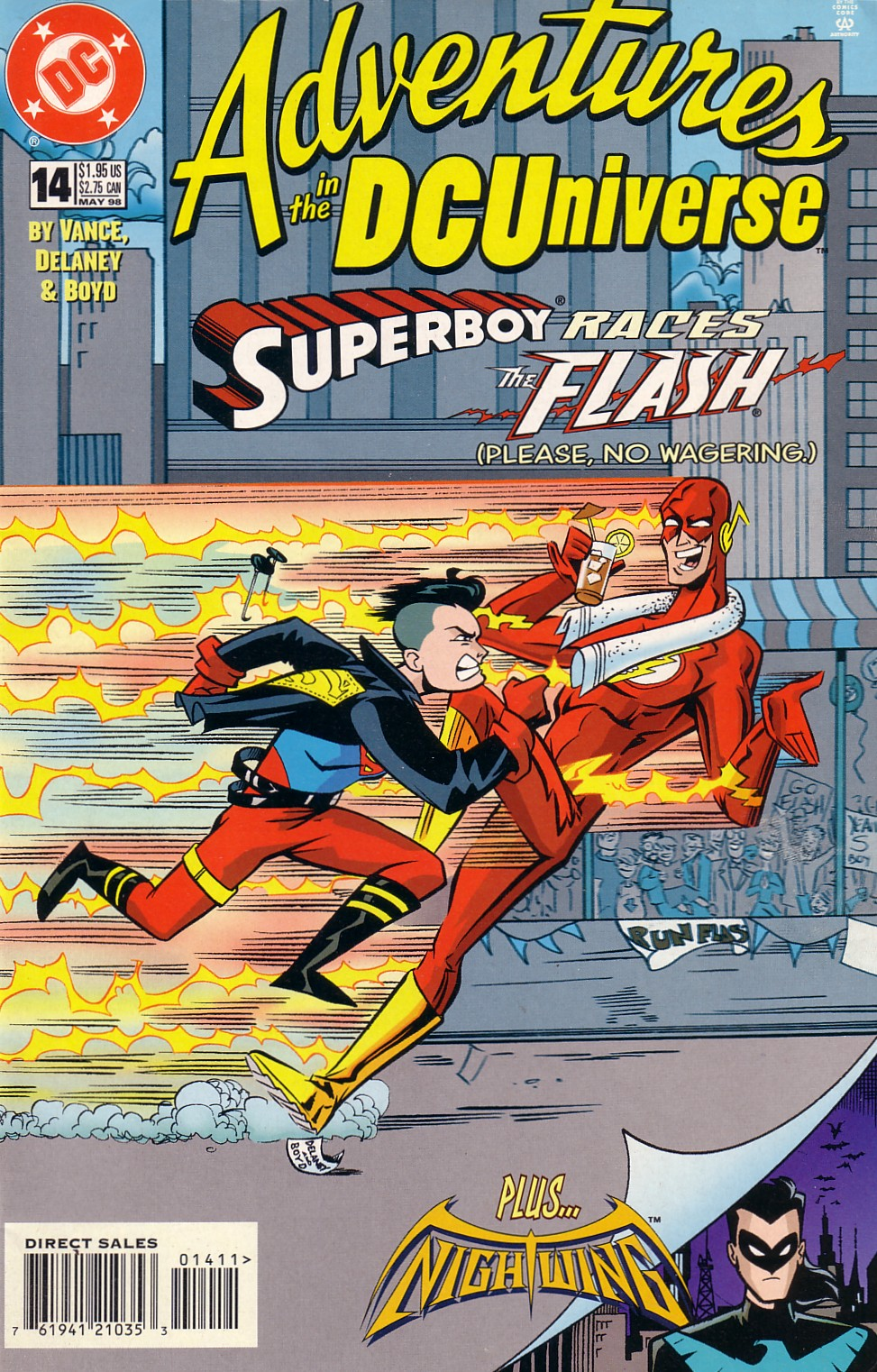 Read online Adventures in the DC Universe comic -  Issue #14 - 1