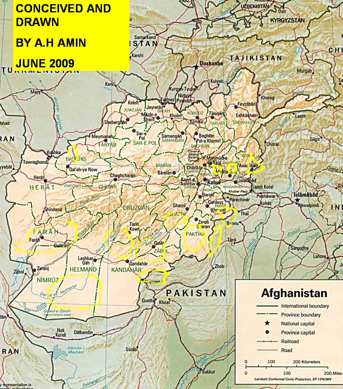 Afghanistan Gamberi Map Bases Fob Military