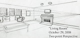 Two point perspective living room at home - Two point perspective living room ...