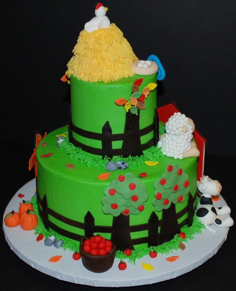 The Bakery Next Door: Farm Birthday Cake