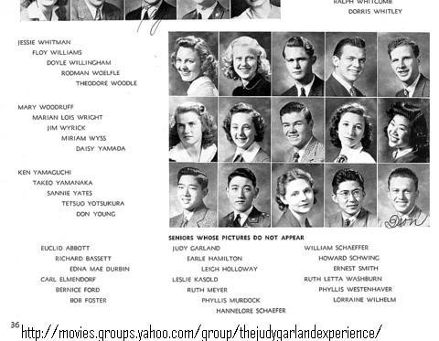 The Judy Garland Experience™: JUDY GARLAND'S HIGH SCHOOL