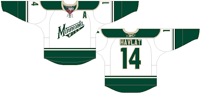 Ryan Haslett sent in a concept for a new road jersey for the Wild. It is  white with an emphasis on green 28159f059
