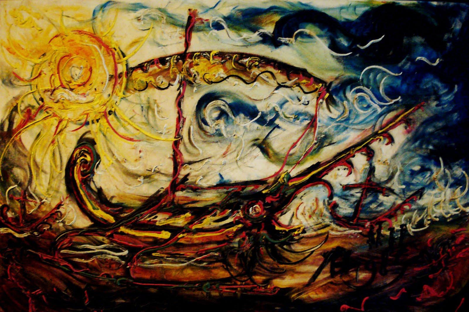 Lukisan Abstrak Hem: Macam-macam Aliran Seni Lukis Lengkap Dengan Contoh Lukisannya