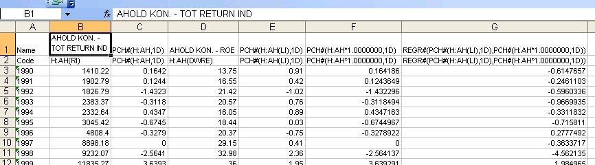 Databaser: on financial databases: 18 07 10