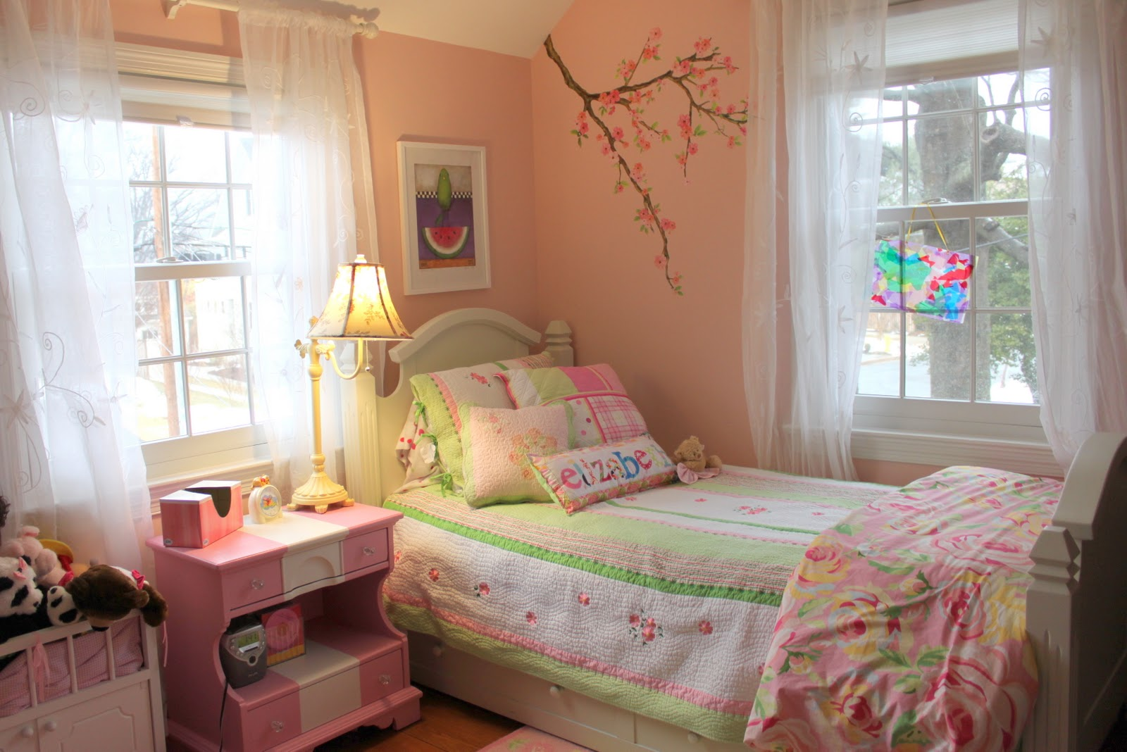 HOUSEography: House Tour Room-by-Room Link-up Party: Kids ... on Small Bedroom Ideas For Girls  id=37062