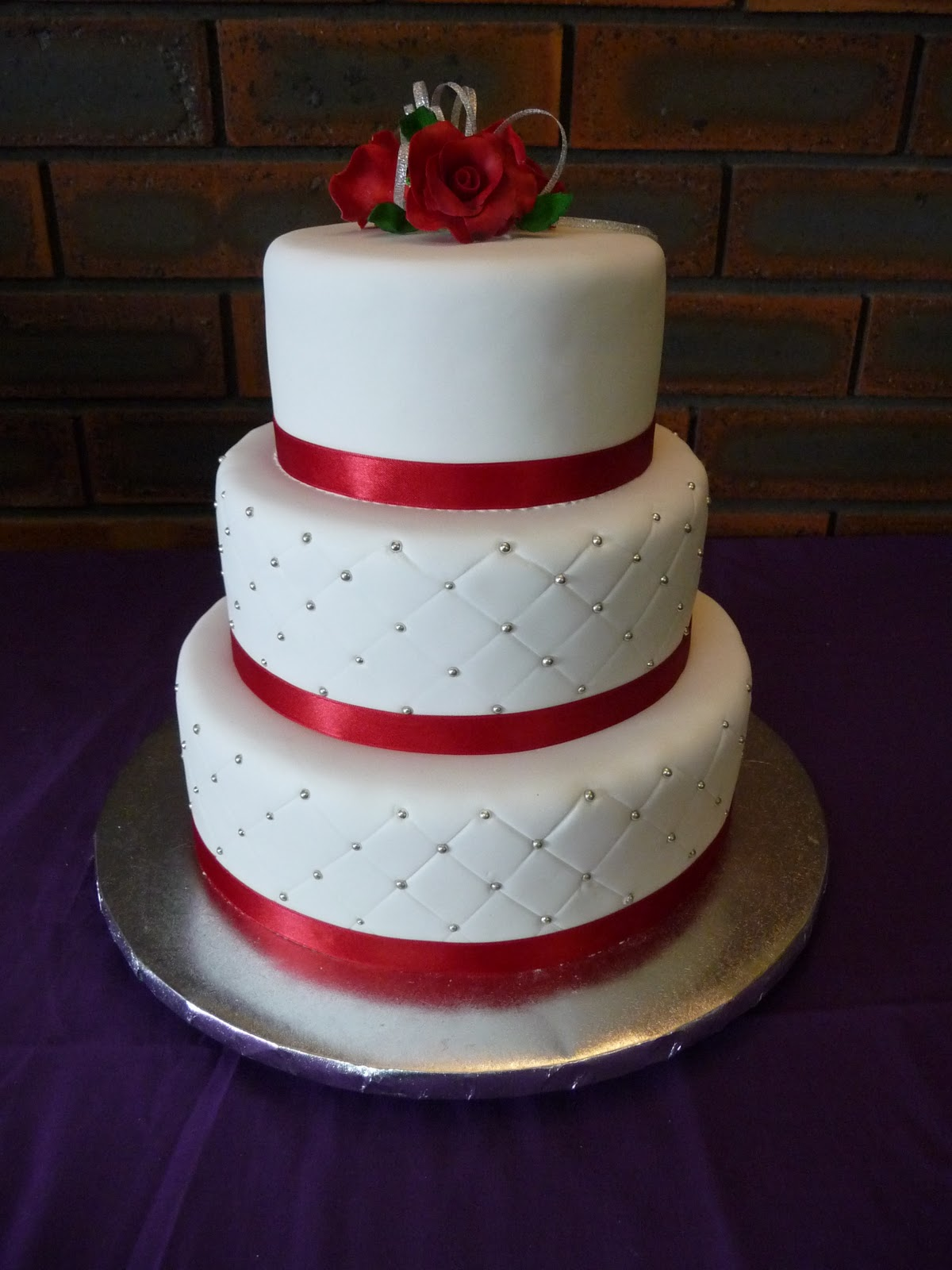 3 Tier Red Velvet Wedding Cake Tbrbfo