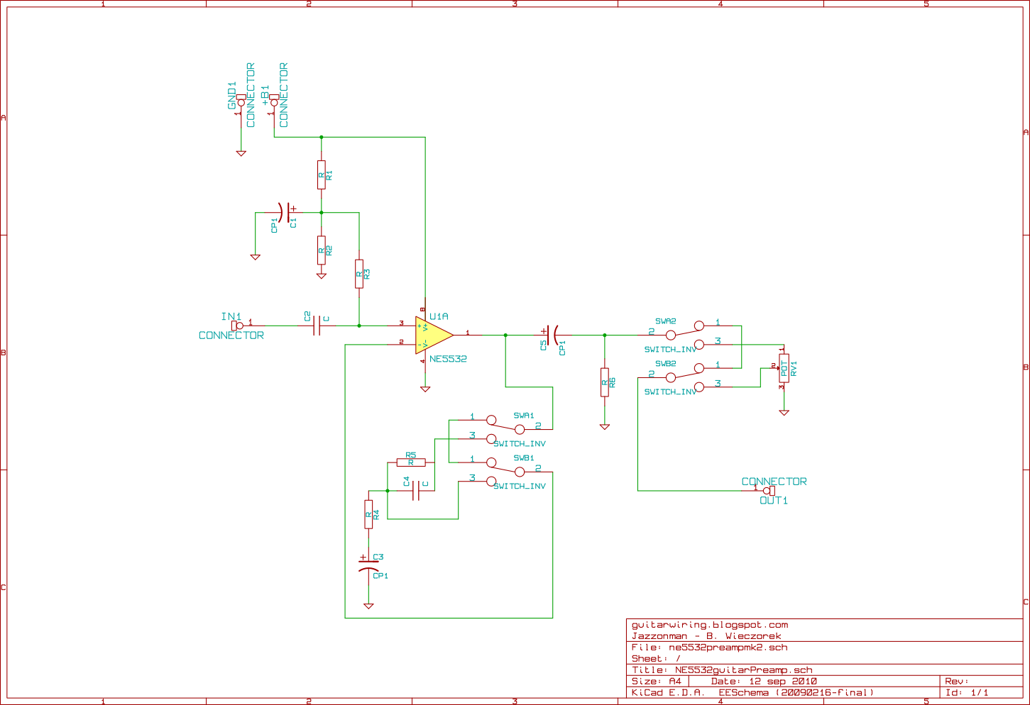The Guitar Wiring Blog - diagrams and tips: New Guitar Preamp