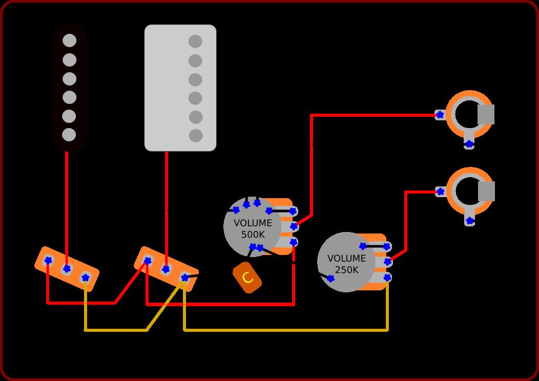 2 pickup guitar wiring diagram: guitar volume wiring  diagramrh:atomglobal netdesign