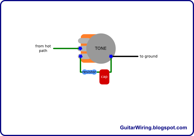 the guitar wiring blog - diagrams and tips: tone control mod 1 tone pot wiring diagram hss tone pot wiring diagram