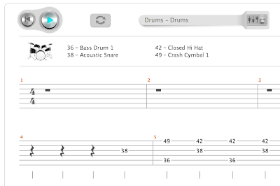 Songsterr: Drum Tab Notation
