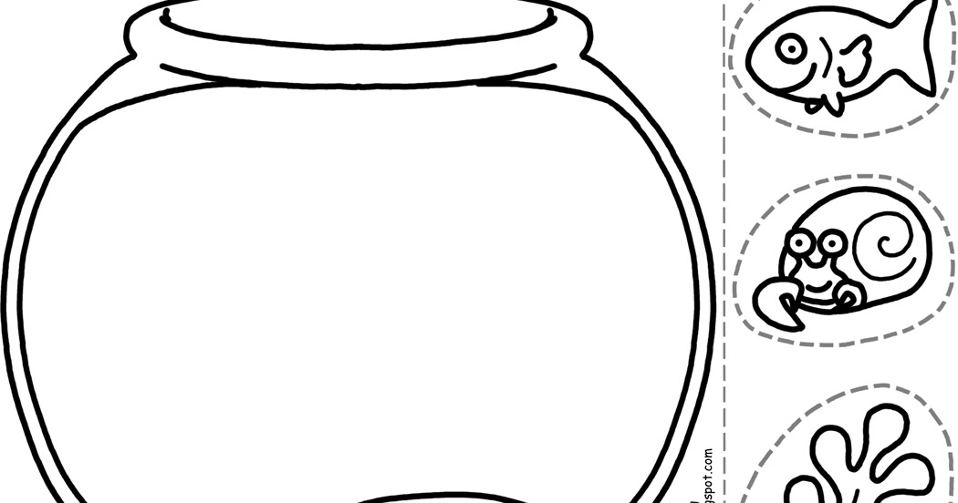 picture about Fish Bowl Printable named Offer Your Octopus a Paintbrush (or 8): Lower-and-Colour