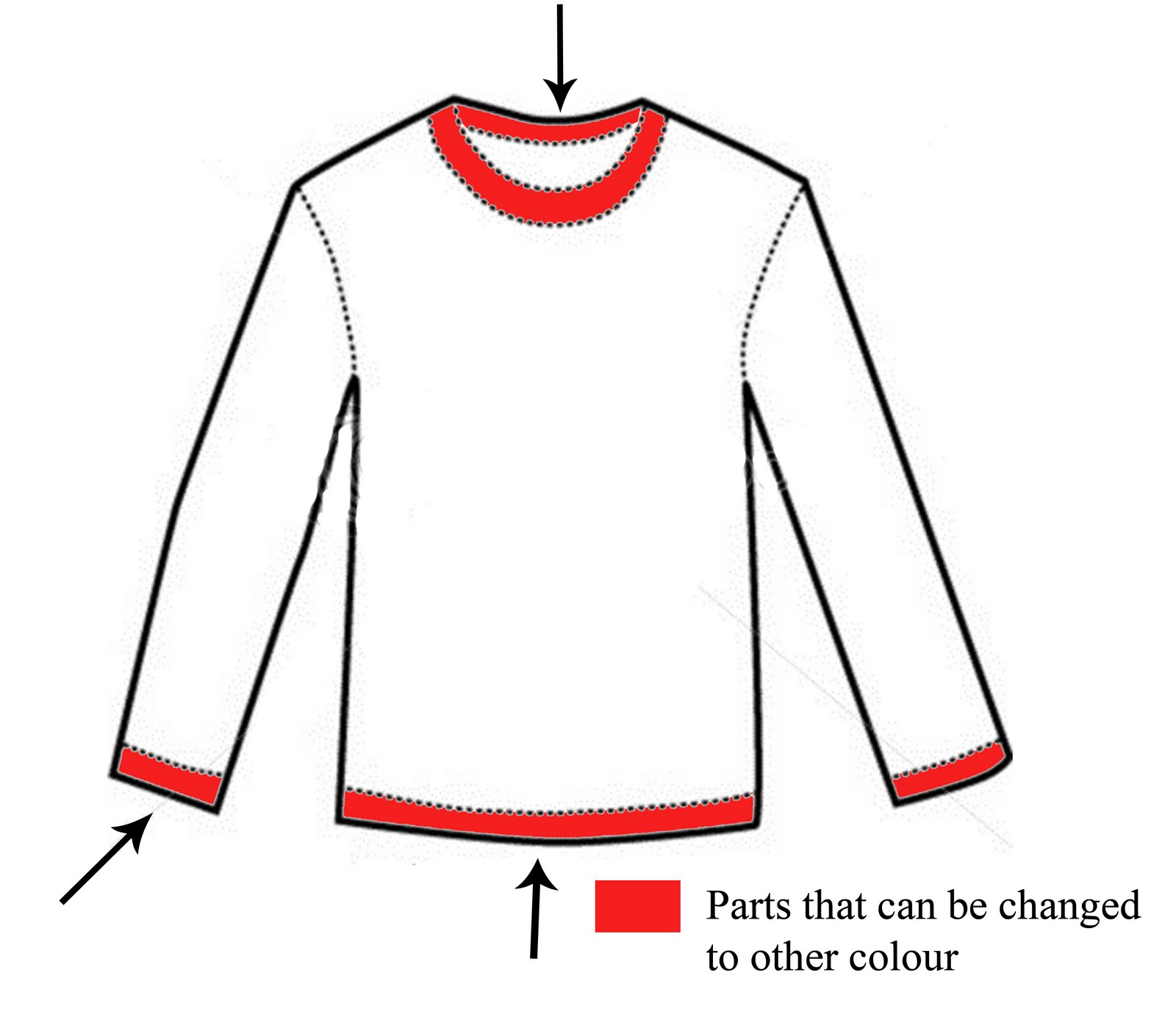 Blank Shirt Template With Collar