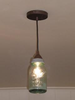 Gimme Some Shuga Project 1 Mason Jar Pendant Light