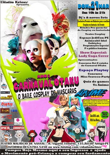 Lembrete: Anime Party: Carnaval Otaku no 2- O Baile de Mascaras e Cosplays
