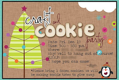 craft and cookie party invitation