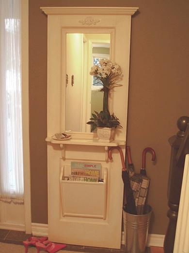 Storage Glee Antique Door Repurposed