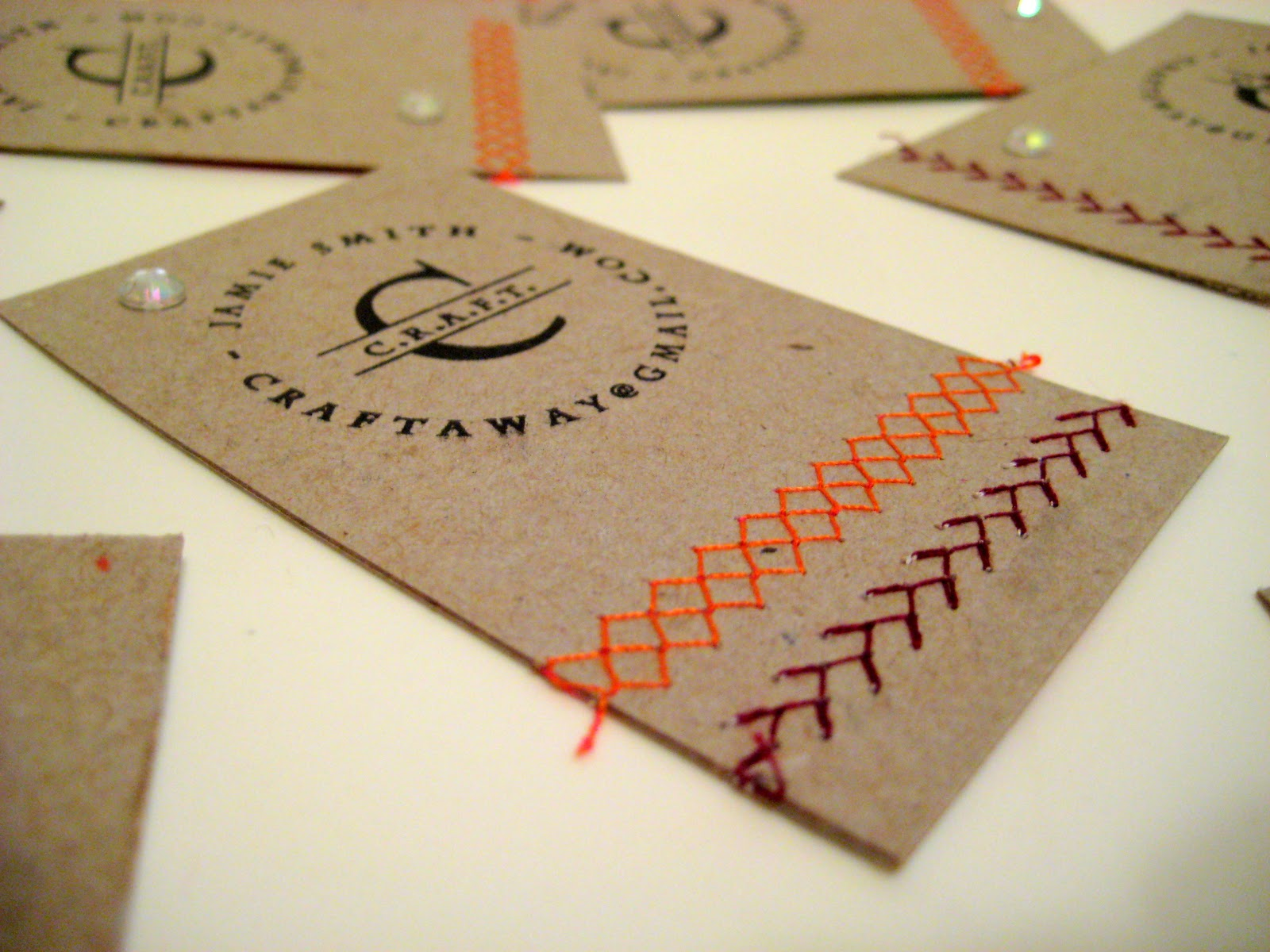 DIY Stamped Business Cards