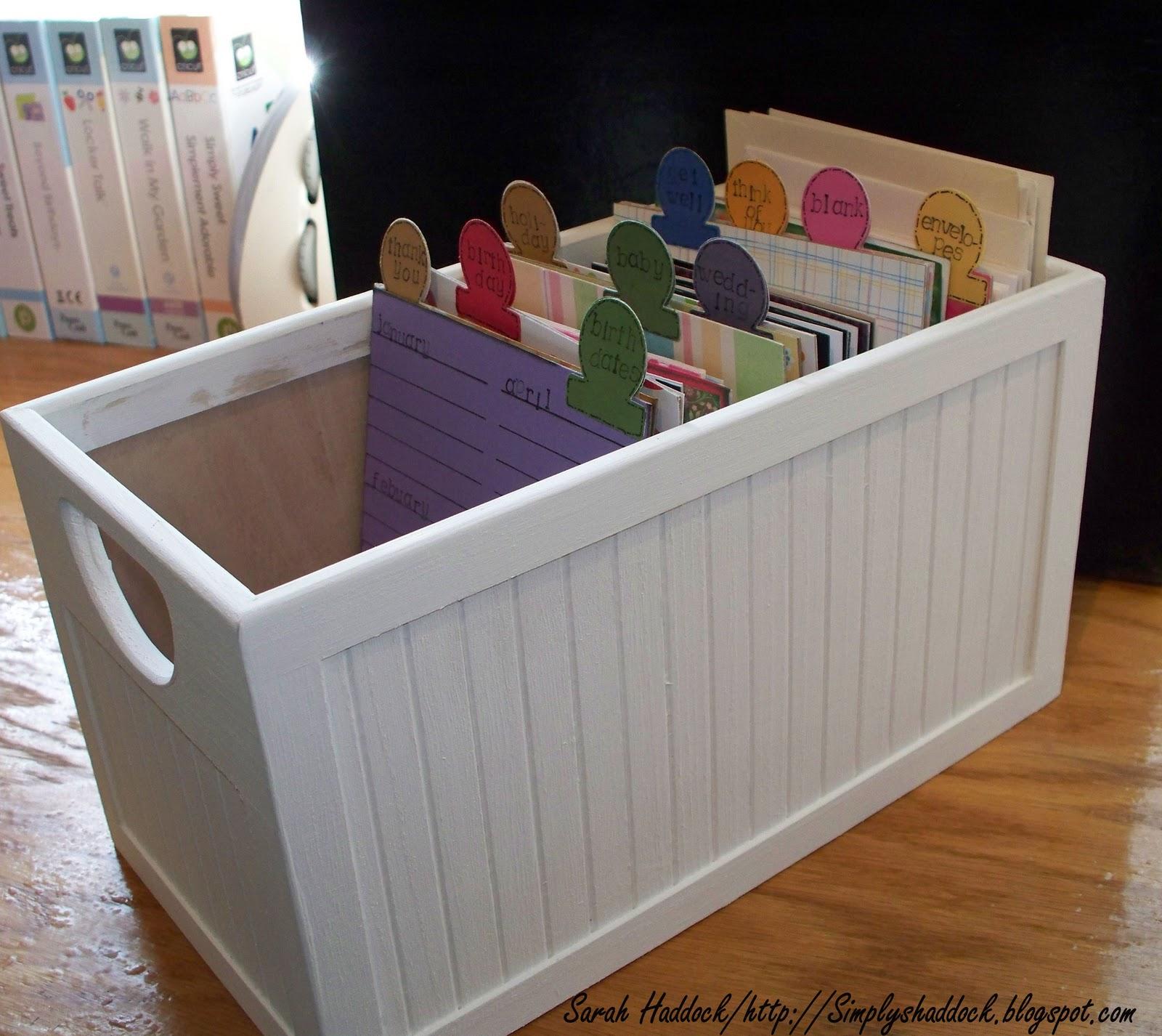 Simply By Sarah: Greeting Card Storage File Box