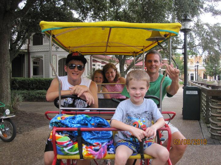 Surrey bike at Port Orleans Riverside Walt Disney World