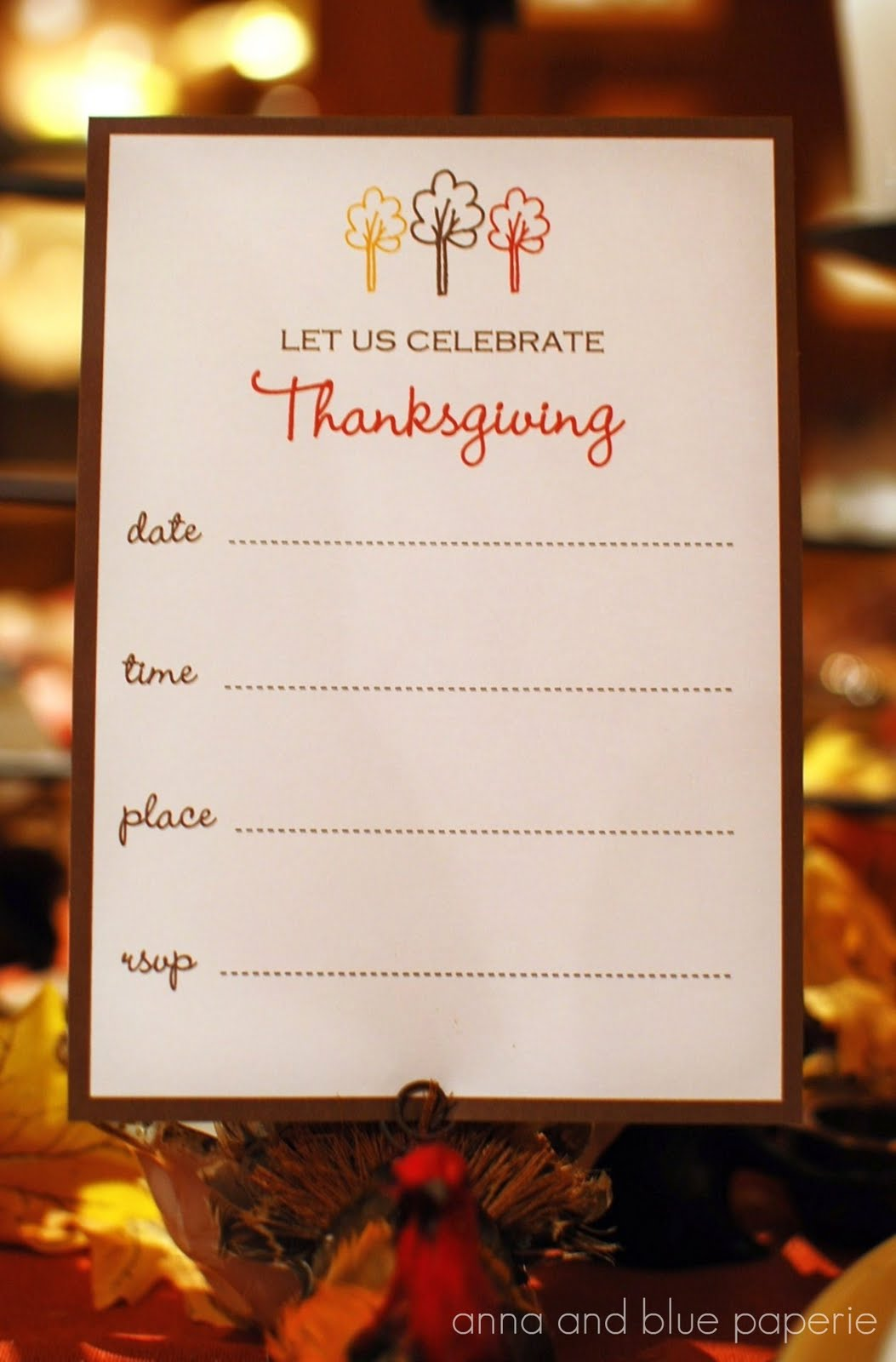 Anna And Blue Paperie Free Printables Celebrate Thanksgiving Printable Collection