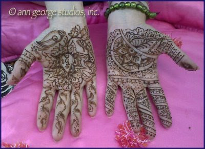 wedding henna tattoo full palms