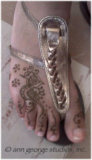 foot tattoo henna toes