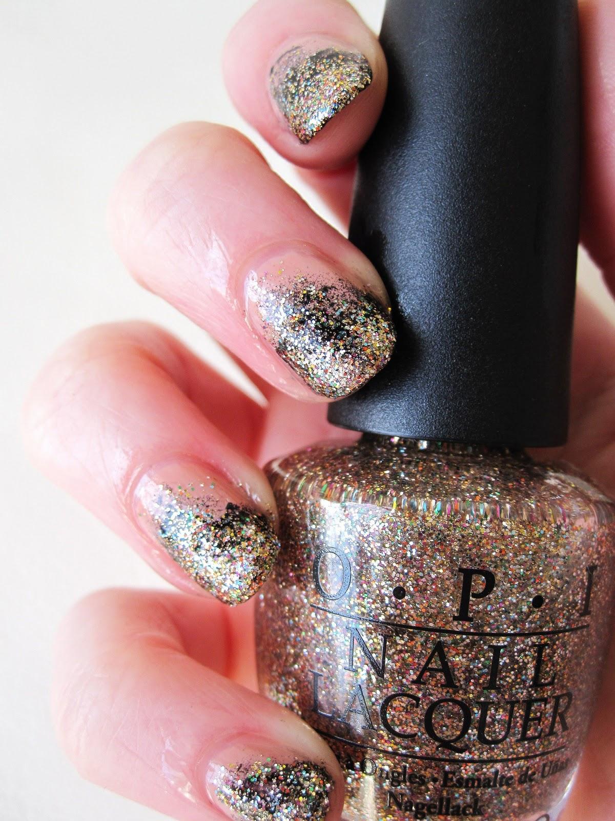 Stippled Glitter Tips Nail Tutorial