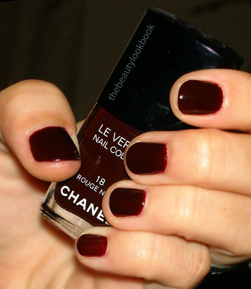 Nails Of The Day Chanel Rouge Noir 18 The Beauty Look Book