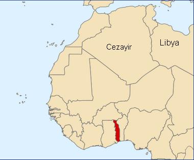 Togo Afrika'da Nerede