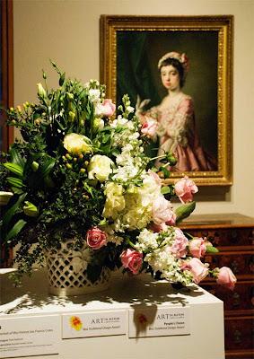 Milwaukee Art Museum Art in Bloom flower arrangement Copyright 2008 Jeanne Selep of Selep Imaging