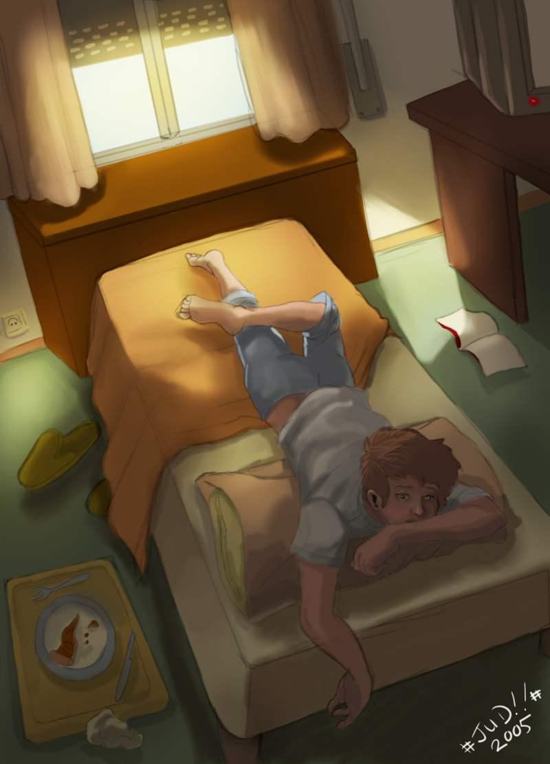 Accion en la cama con una tetona - 5 6
