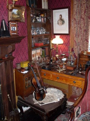 The corner of Holmes' Study.