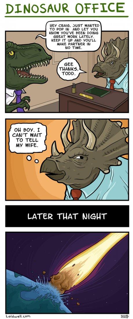 Gentle Art Of Meme Dinosaur Office