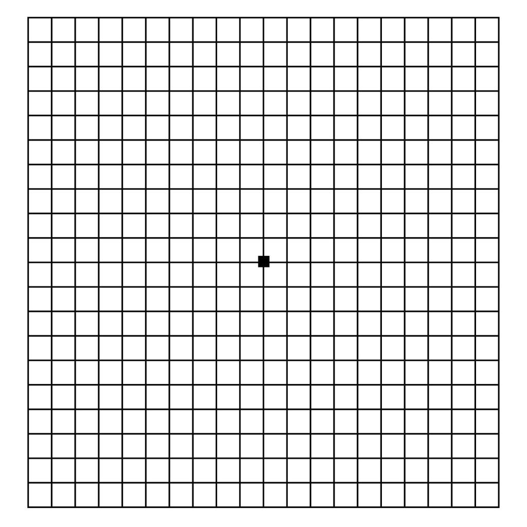hight resolution of oftalmo laser tela de amsler
