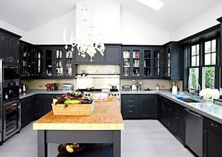 Dise o y decoraci n de cocinas cocinas negras como - Linea 3 cocinas ...
